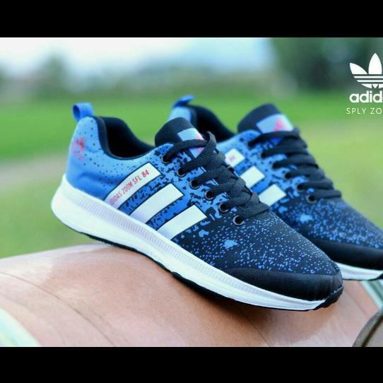 Harga Sepatu Sneakers Olahraga Sport Pria Wanita Adizero Climalite Sepatu Running Blue Baru Murah
