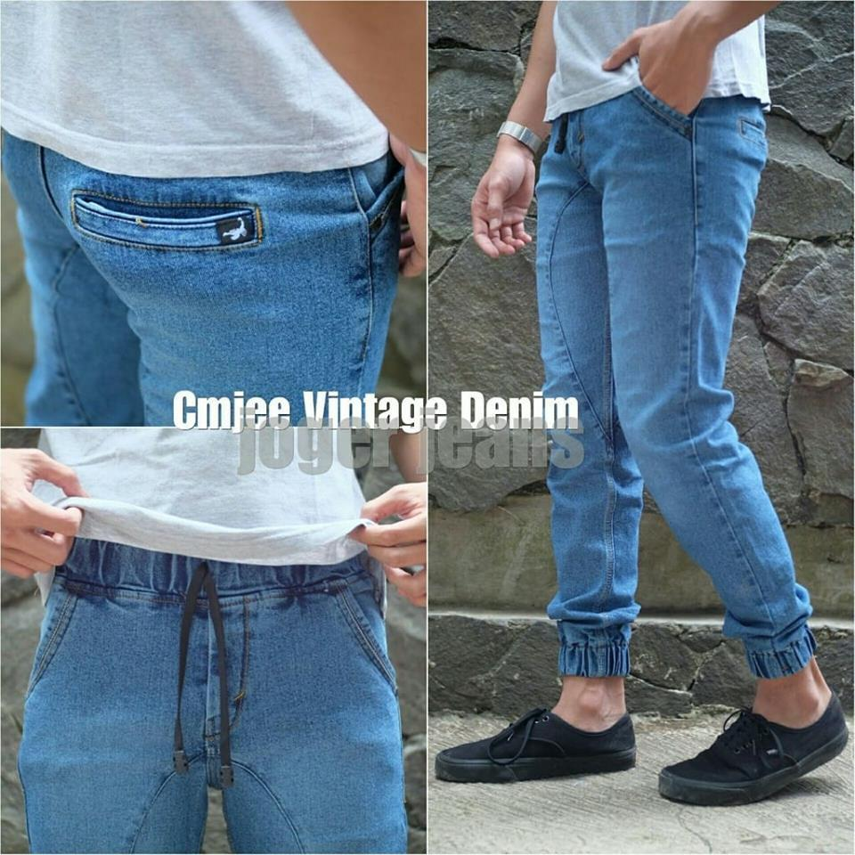 harga celana jeans jogger joger pria good quality Lazada.co.id