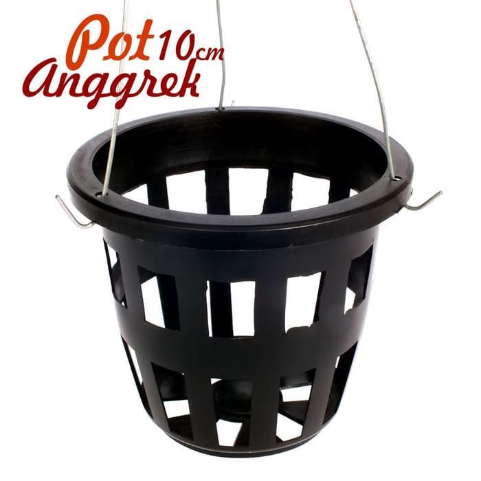 Pot Anggrek Netpot Anggrek Ada Lubang Gantung - Diameter 10 Cm - 3 .