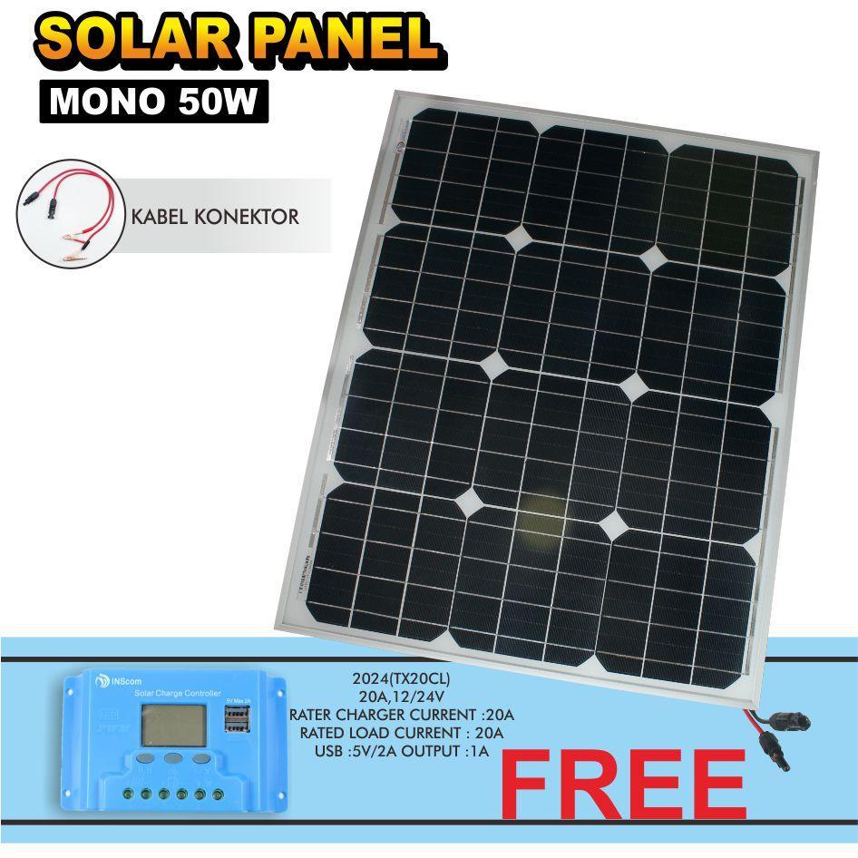 weitech solar photovoltaic module / panel surya / mono solar 50 watt+ 20a 12 v 24 v panel surya kontroler pengisi daya baterai timer untuk lampu