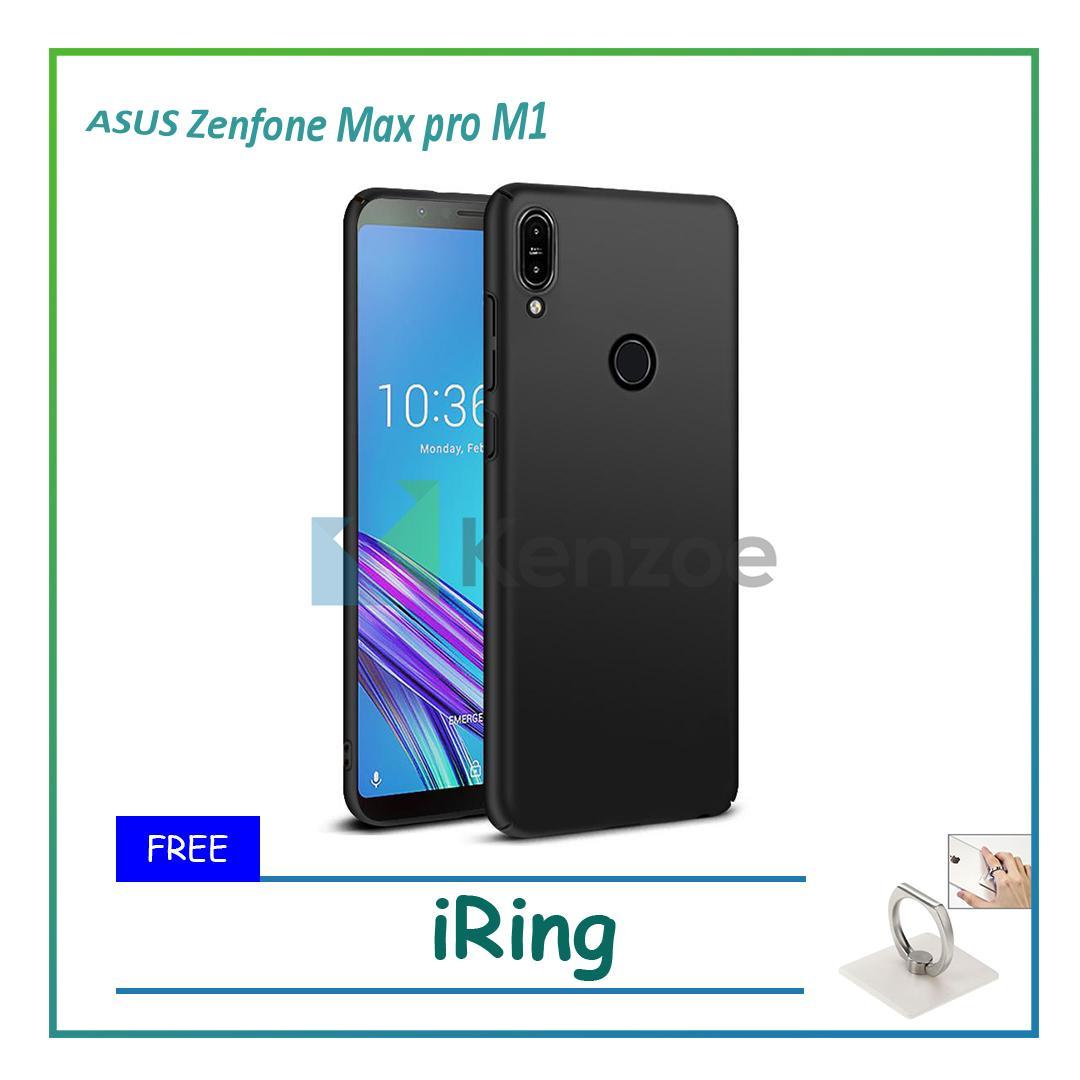 Kenzoe Case Super Slim Black Matte Asus Zenfone Max Pro M1 ZB601KL 5.99 Baby Skin Softcase