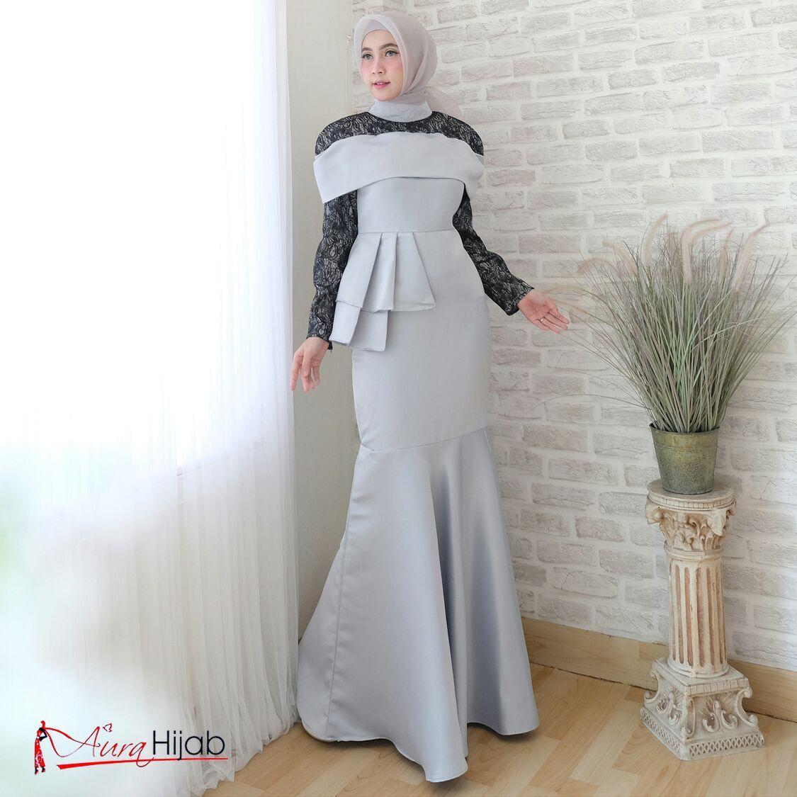 Fitur Aurel Mermaid Gaun Pesta Gamis Muslim Baju Duyung Dan Harga