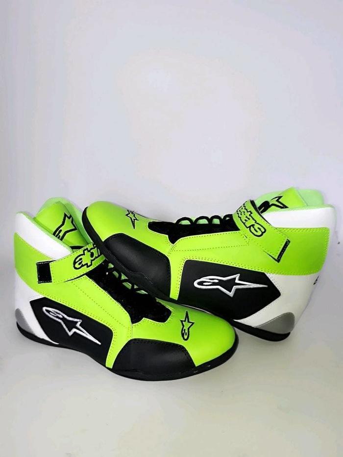 Sepatu Drag Hijau Stabilo / Sepatu Drag Alpinestar Stabilo