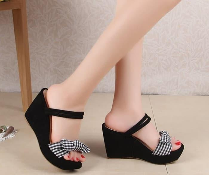 WEDGES PH01 hitam/moca