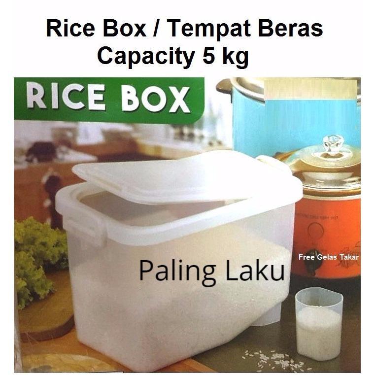 Beli Rice Box Tempat Beras Kotak Beras 5 Kg Nyicil