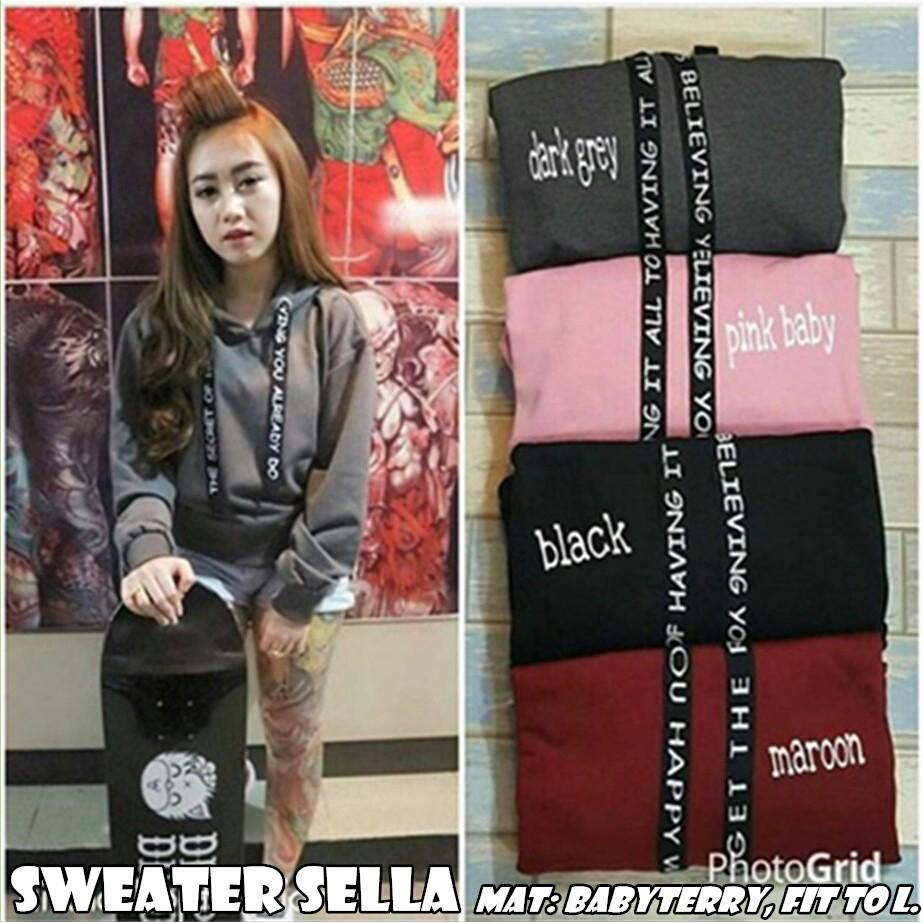 Sweater Wanita | Switer Wanita | Sweater Sella Sweater only hoodie letter Sweater Tali tulis