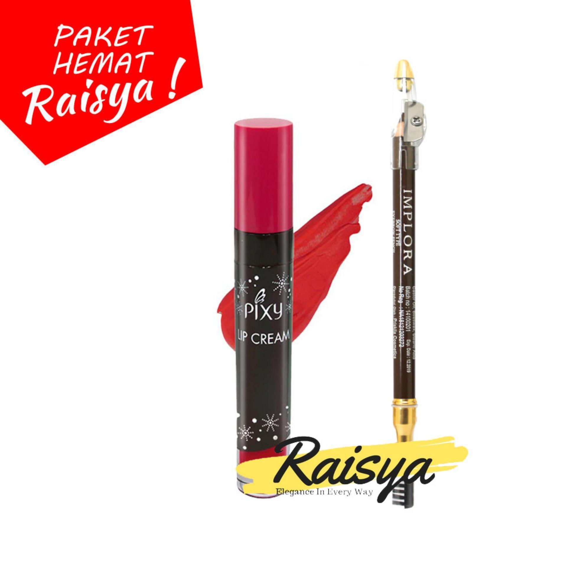 Pixy Lip Cream No. 02 Party Red Free Implora Pensil Alis Coklat Resmi BPOM