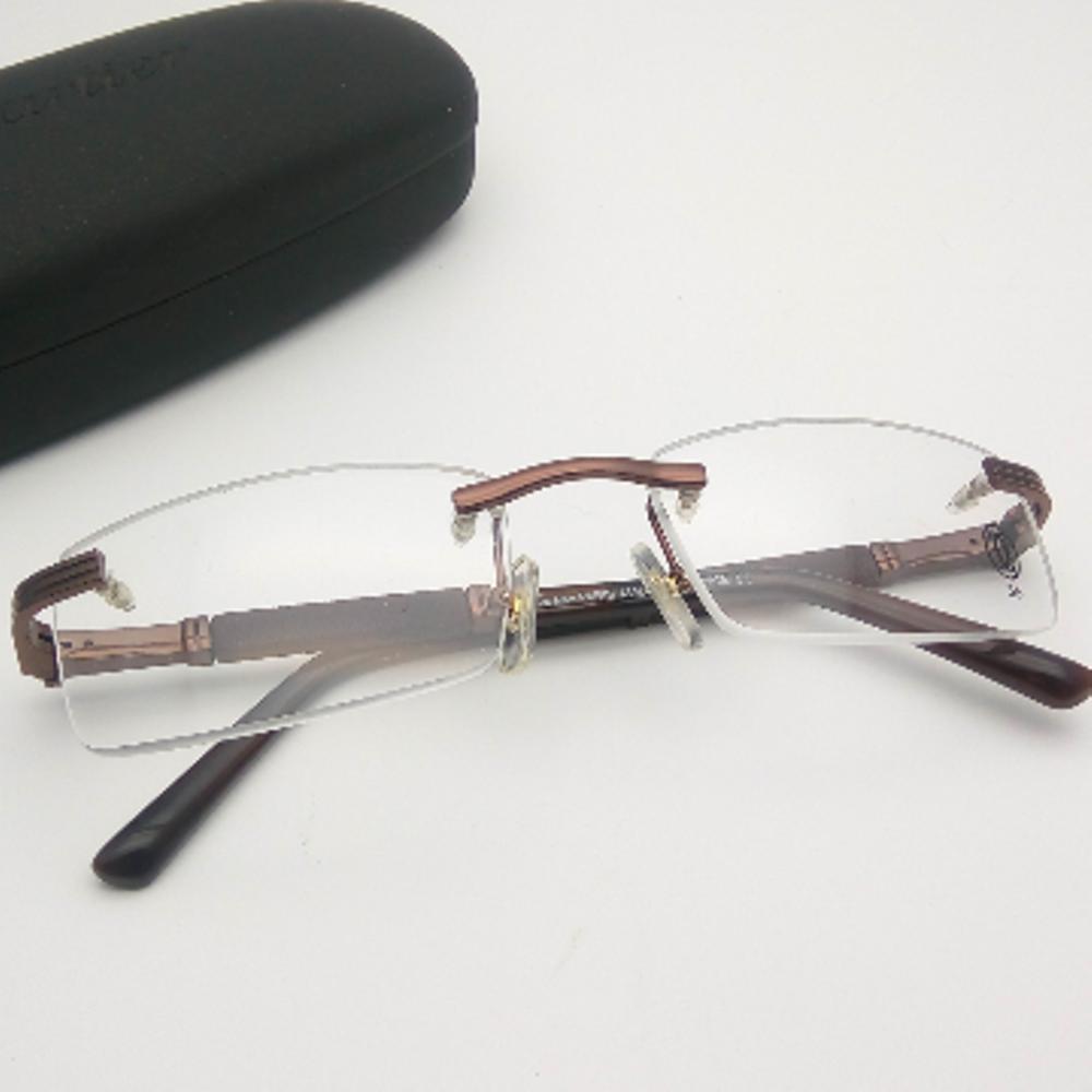 kacamata bor frameless frame Pria wanita Cartier 809 coklat fashion   di lapak kacamata_jakarta getjoinshop