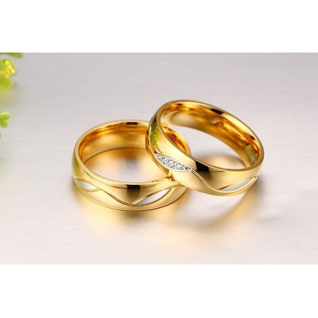 Titanium Cincin Couple - Cincin Tunangan - Cincin Nikah CC086