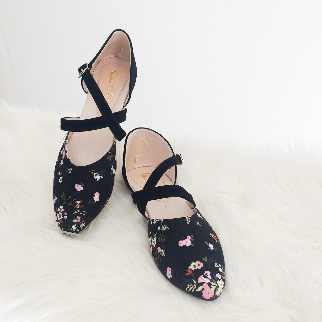 Bebbishoes-Vale Flatshoes-Black