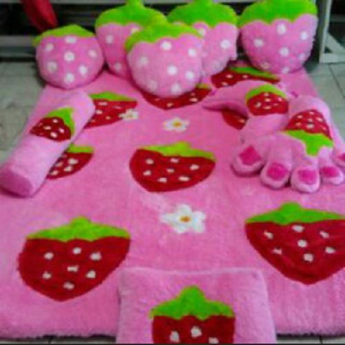 Spesifikasi Adzkia35 Kasur Karpet Karakter Stroberry Fullset Adzkia