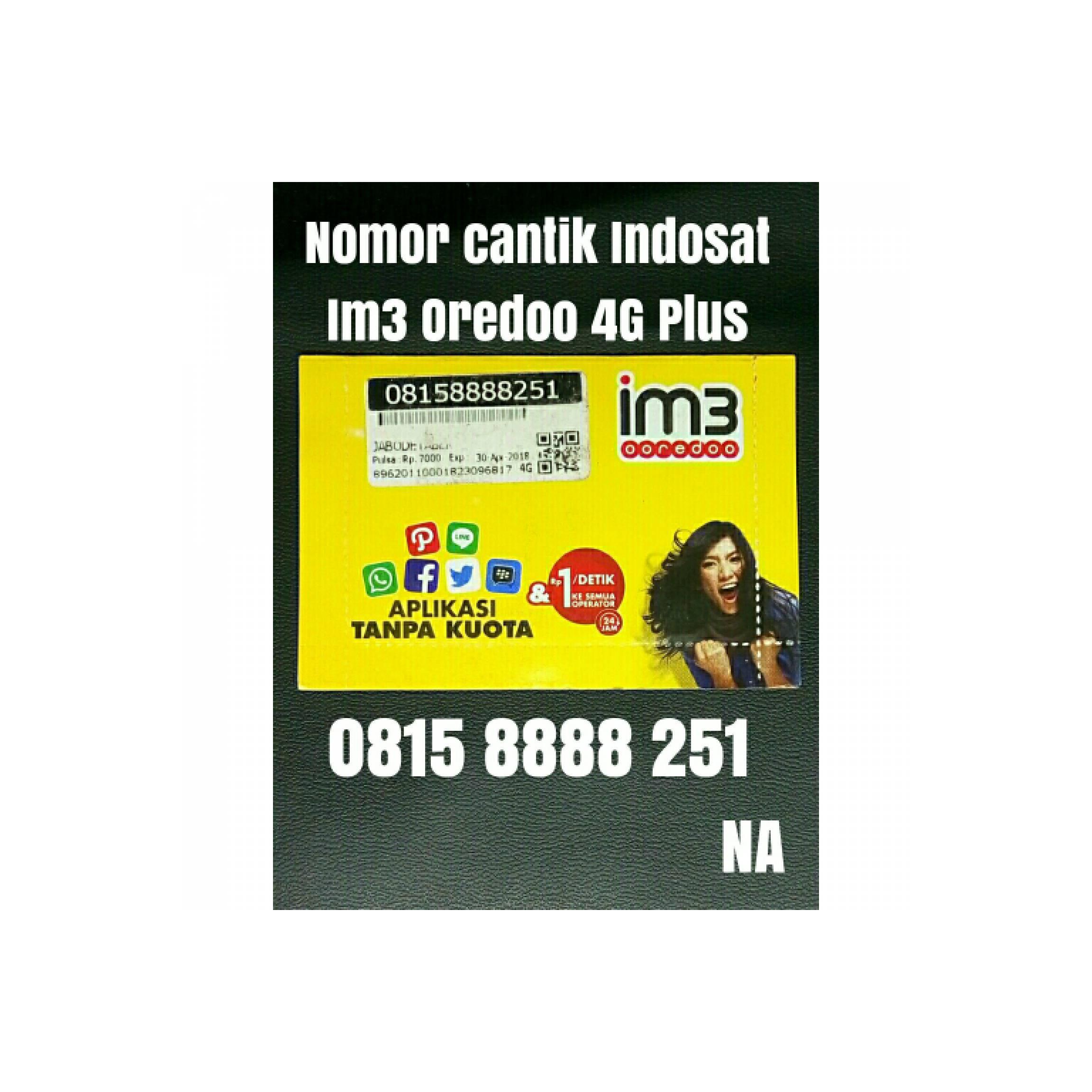 nomor cantik nomer indosat ooredoo 4G kartu perdana 11 digit 8251 .