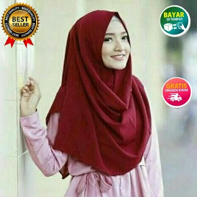 Kelebihan Hijab Salwa Instan Bahan Diamond Italiano 2 Lapis Warna