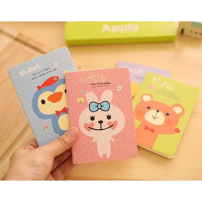 BEST SELLER buku catatan small animal cartoon notebook sno037 HARGA TERMURAH