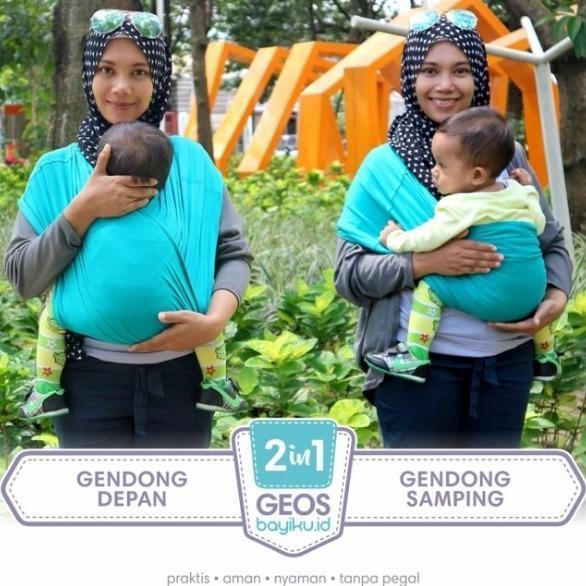 3ba59dd6423 Cek Harga Baru Baby Leon Gendongan Kaos 100% Cotton 2 In 1 Geos ...