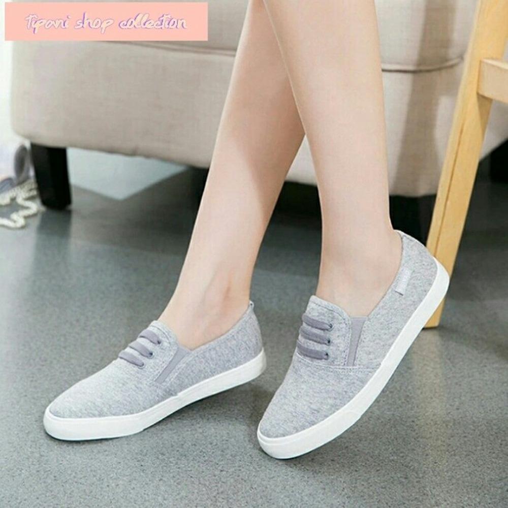 Sepatu Wanita Abu Jeans