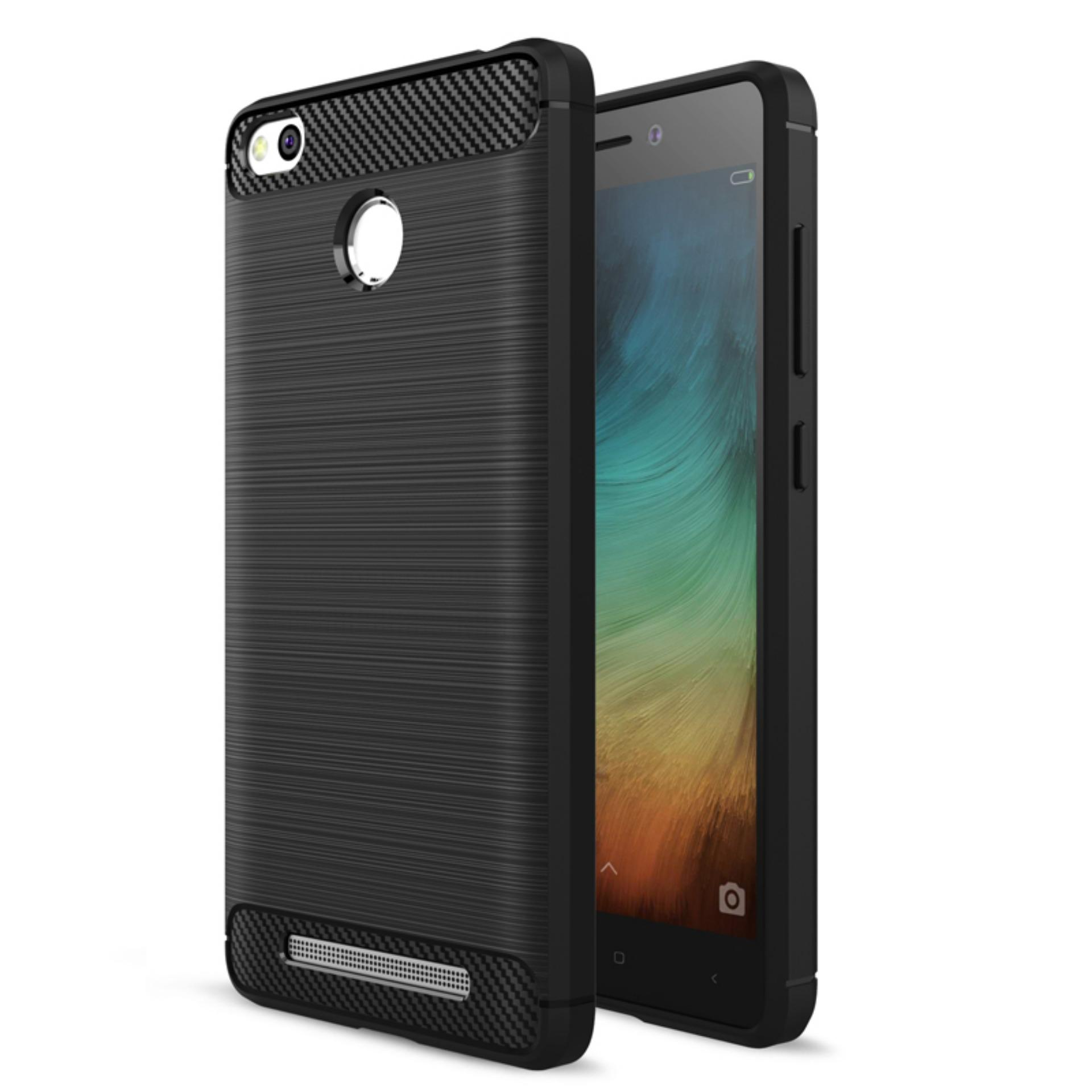 Detail Gambar Uncle Star - Case Ipaky Carbon Fiber Shockproof Hybrid  Elegant Case for Xiaomi Redmi 3097b8508d
