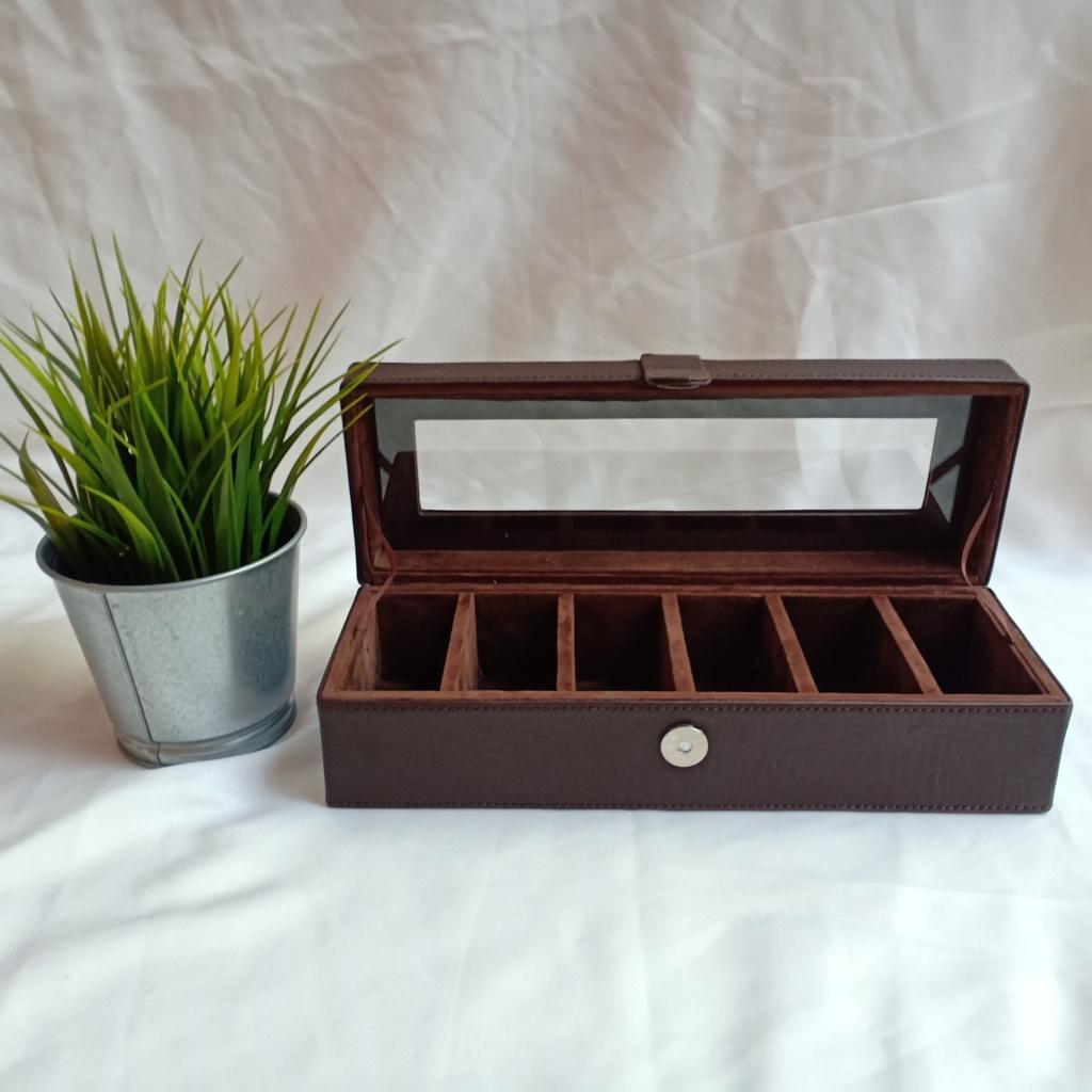 Kotak Jam Tangan Isi 6 I Box Tempat Jam I Watch Organizer Flower
