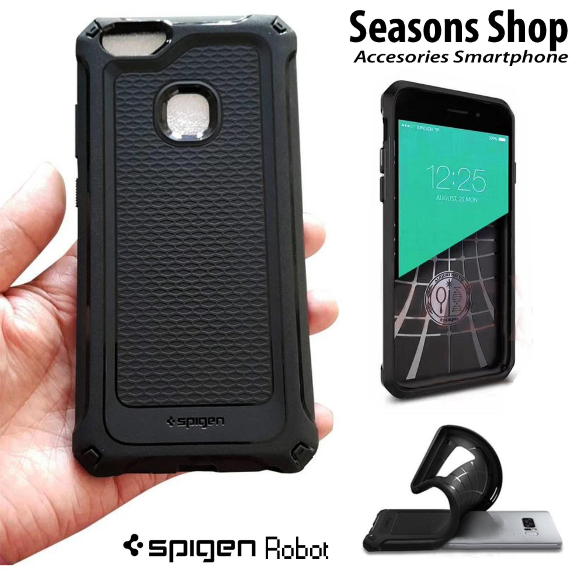 Seasons Softcase Spigen Robot/Carbon For Smartphone Samsung J3 Pro