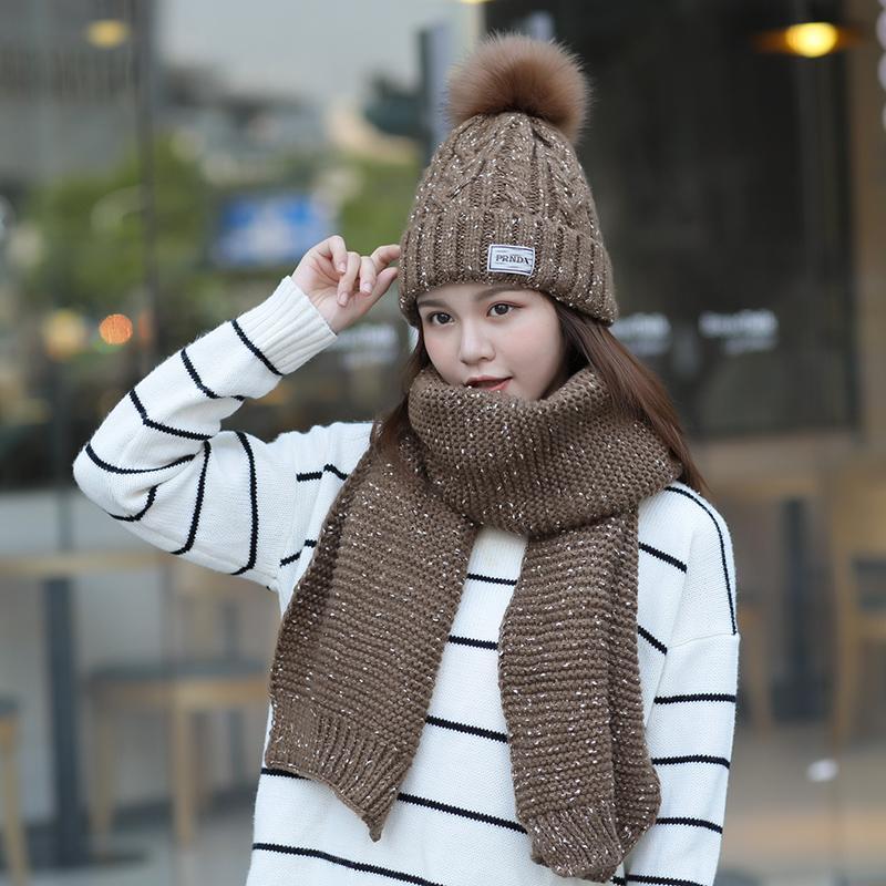 Topi Musim Dingin Korea Fashion Style Bulu Hangat Topi (Arak Anggur)