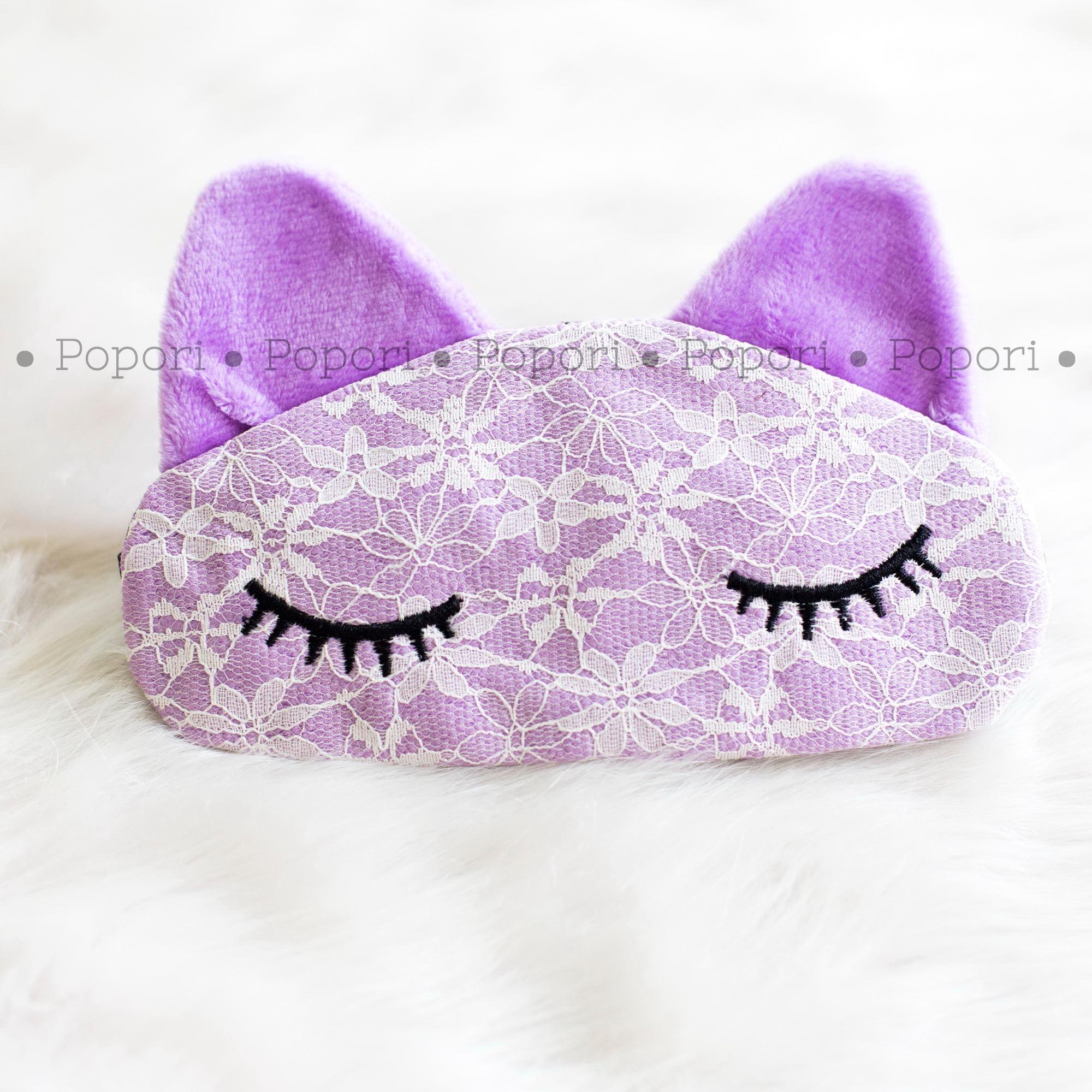 Pola Yang Lucu Masker Mata Pendingin Hati Atau Tidur Untuk 3d Popori Penutup Kucing