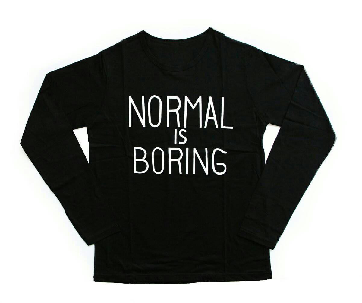 ... JCLOTHES Tumblr Tee / Kaos Cewe / Kaos Lengan Panjang Wanita Normal Is Boring - 3