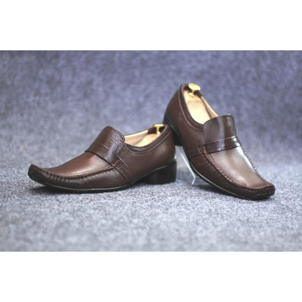 sepatu casual pria kulit pantopel formal pantofel handmade untuk kerja kantor kickers Cevany murah