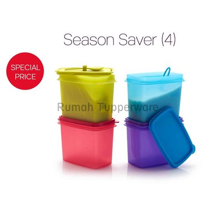 Tupperware Smart Saver Shelf Saver Tempat Gula Garam Bumbu Toples