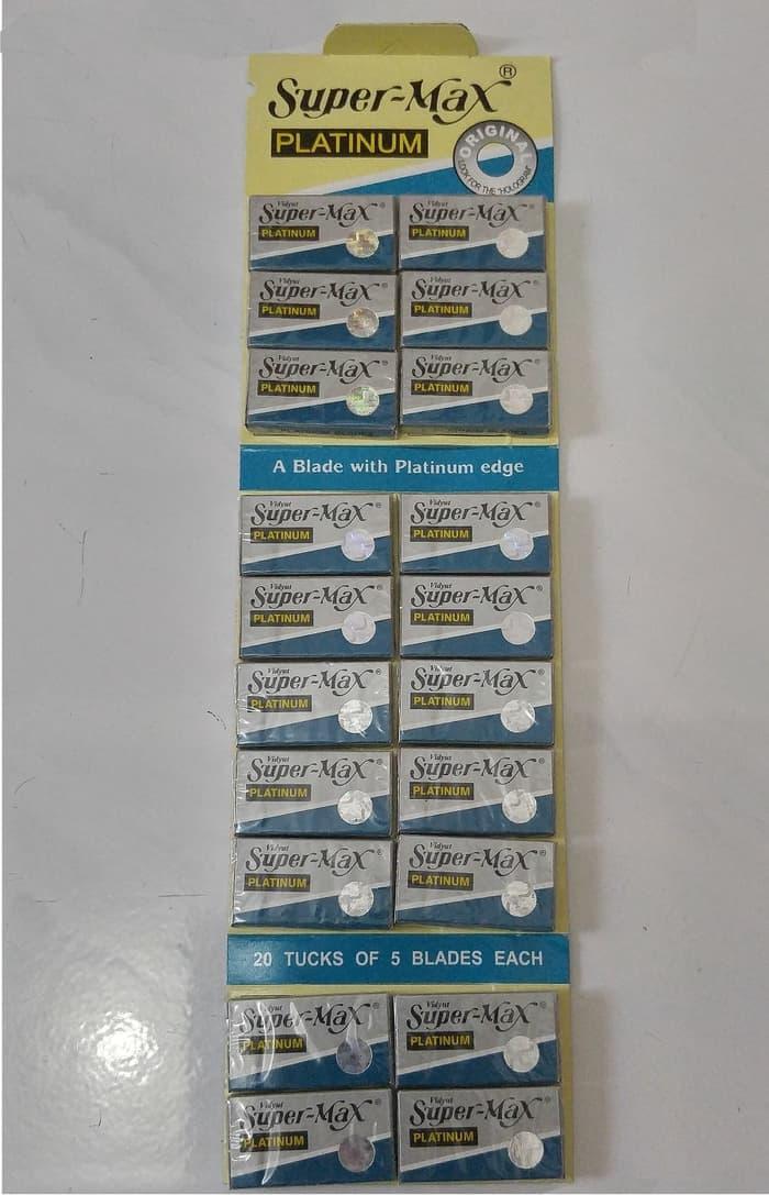 Pisau Silet Super Max Supermax Platinum Cukur Barbershop Isi 20 Kotak - 4