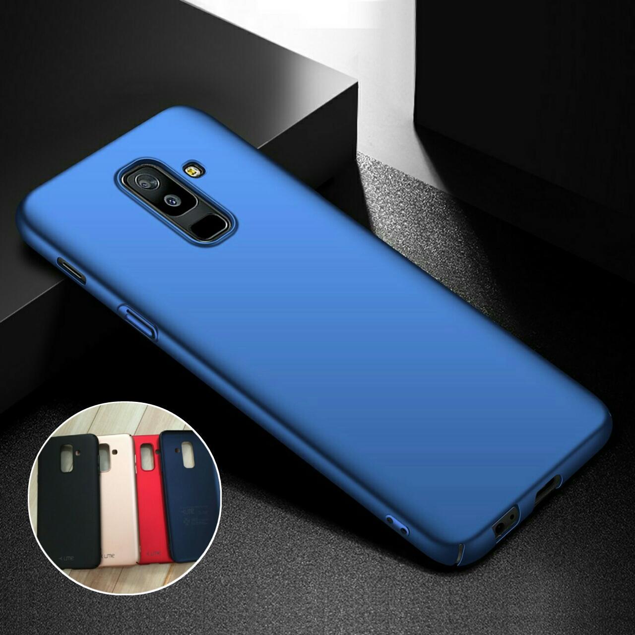 Fitur Backcase Silicon Hardcase Original Samsung A6 Plus 2018 Pink