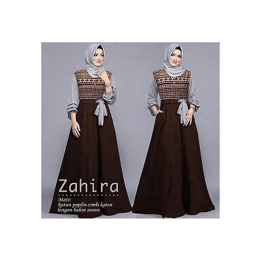 Pakaiaan Wanita Muslimah - Gamis Zahira Maxi