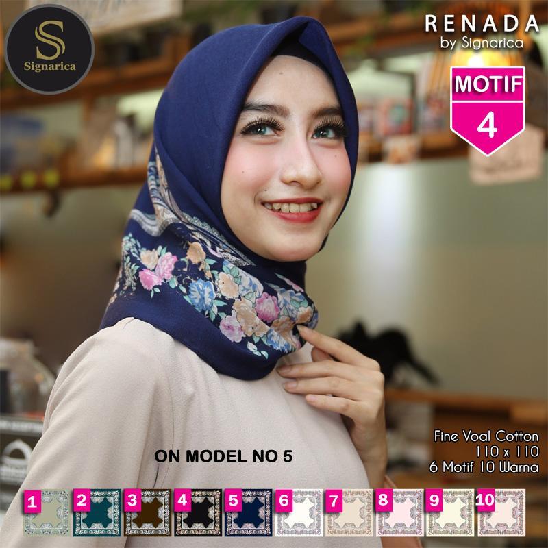 Hijab Segi Empat RENADA 4 By SIGNARICA - Jilbab kerudung MOTIF