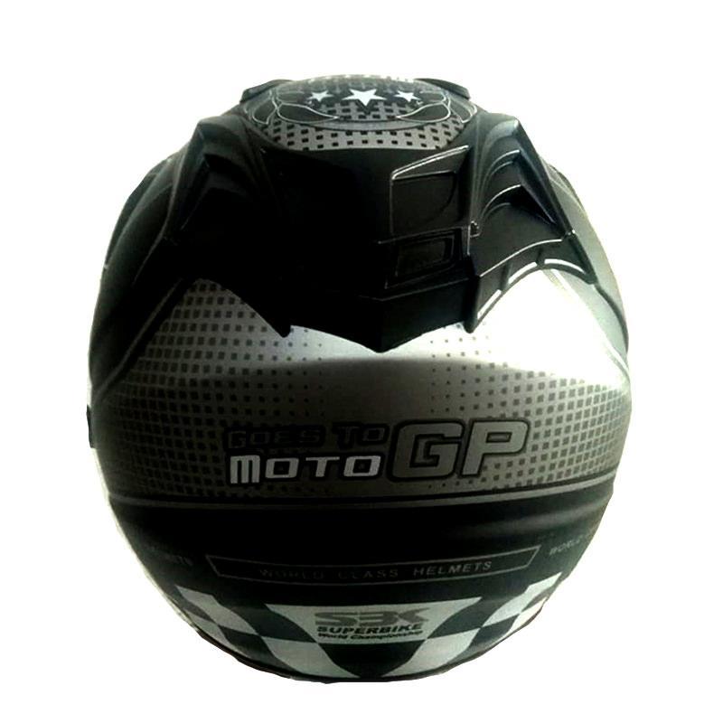 ... Helm Double Visor BXP Motif Moto GP 2 Kaca - Black Grey - 3 ...