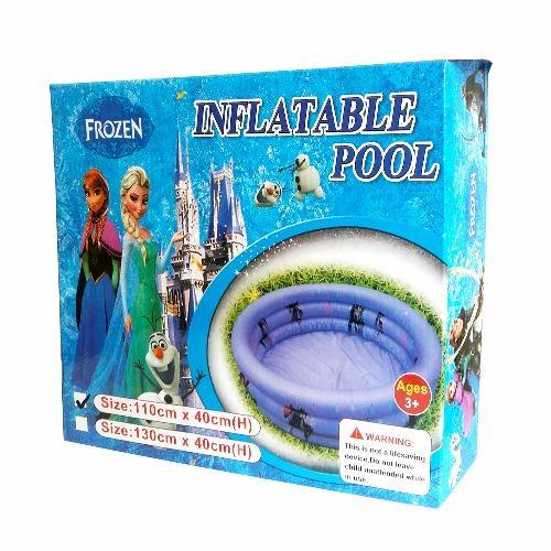 Inflatable Pool Frozen Ungu 90 Cm Kolam Renang Anak Bak Mandi Pompa Asli