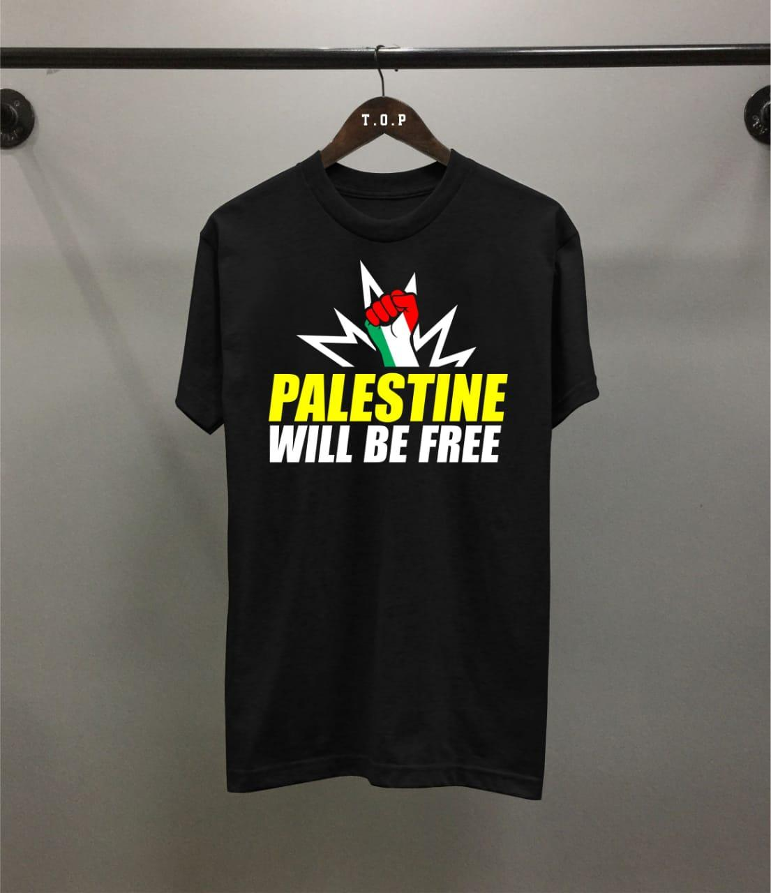 Grosir Kaos Distro Palestine Will Be Free Combed 30S / Atasan Pria / T-Shirt Distro