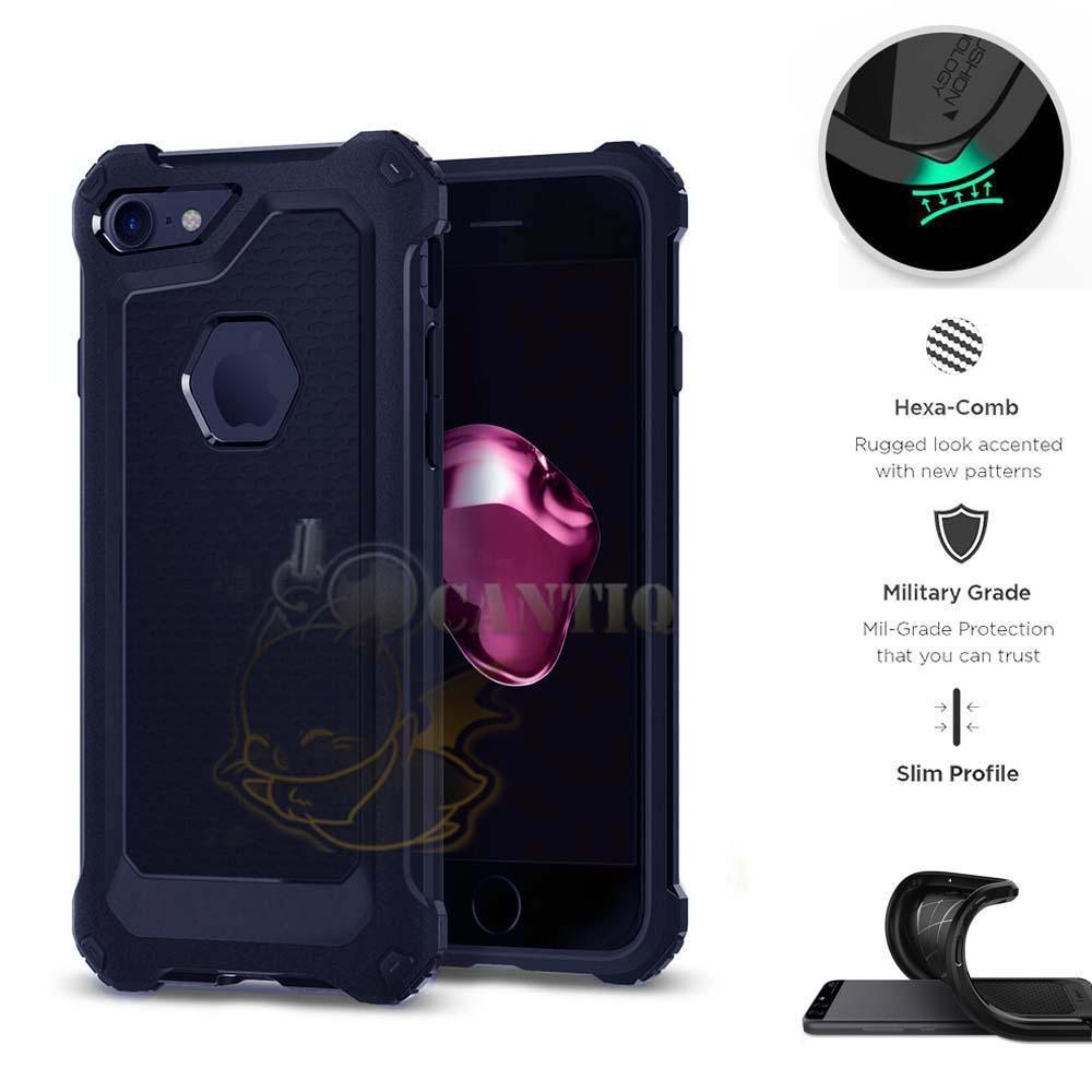 QCF Case Rugged Ultra Capsule Iphone 6 Plus Ukuran 5.5 inch Hybrid Armor TPU Shockproof Soft
