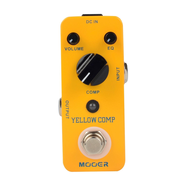 Toko Mooer Yellow Comp Compressor Sound Guitar Effect Pedal True Bypass Mooer Di Tiongkok