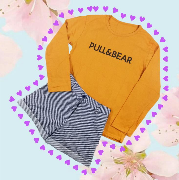 LOLILE KAOS PULL AND BEAR PANJANG ALL SIZE FIT TO L