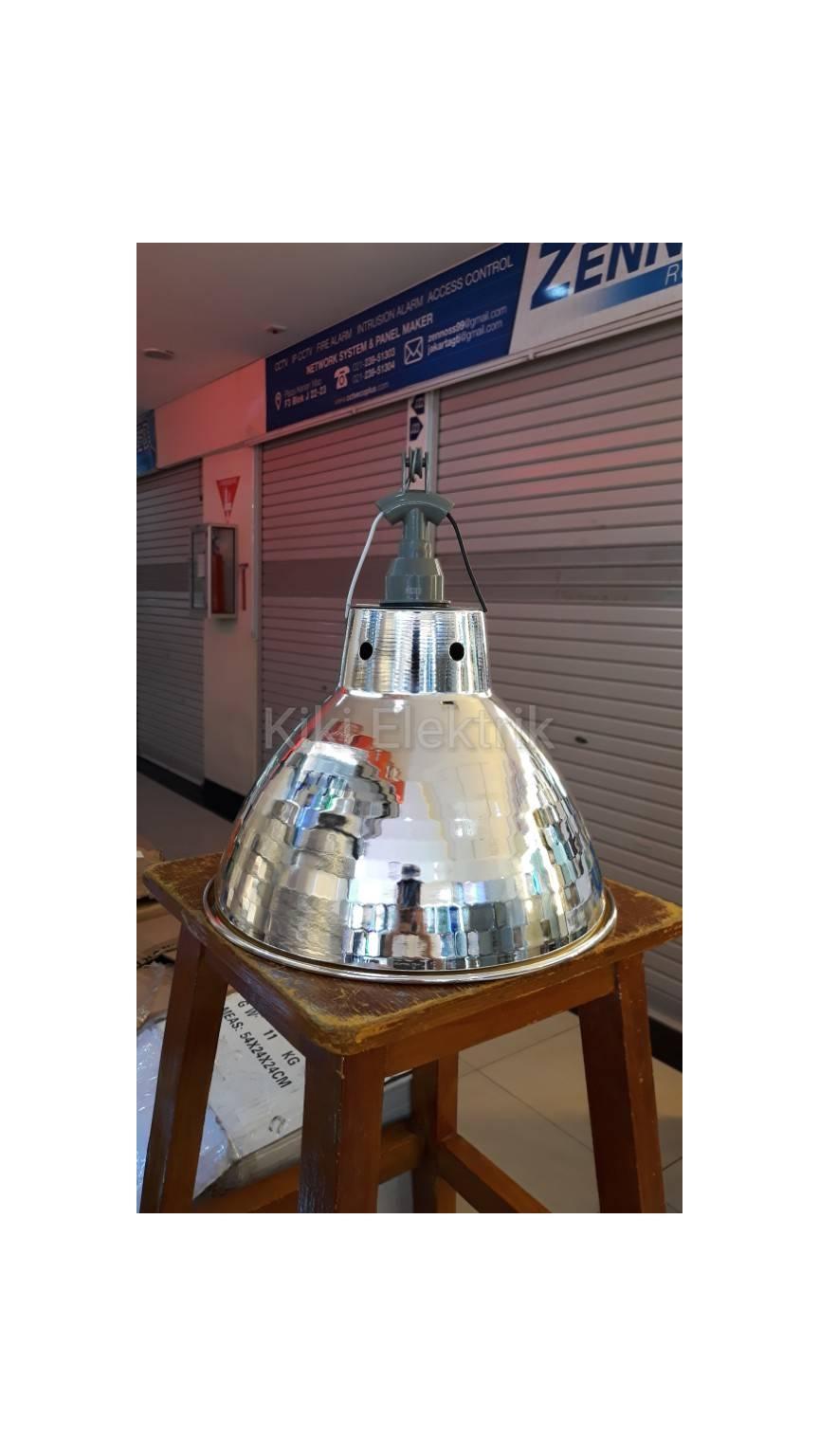 Kap Lampu Gantung Industri Kilap Diameter 30 cm + Fitting E27 MURAH!!