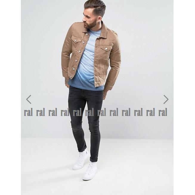 ... RAL - jaket jeans denim pria brown gold (coklat) / BEST SELLER - 3