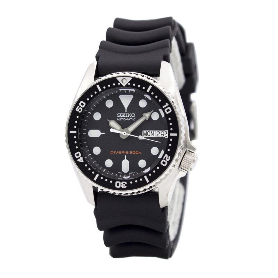 Seiko SKX013K1 Automatic Divers 200M Black Dial Rubber Strap