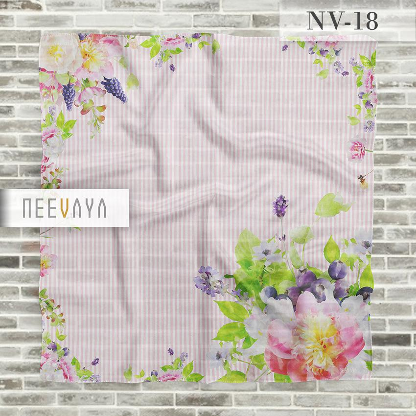 Detail Gambar Hijab Jilbab Scarf Segi Empat Printed Voal Divine Premium Neevaya NV-18 Terkini