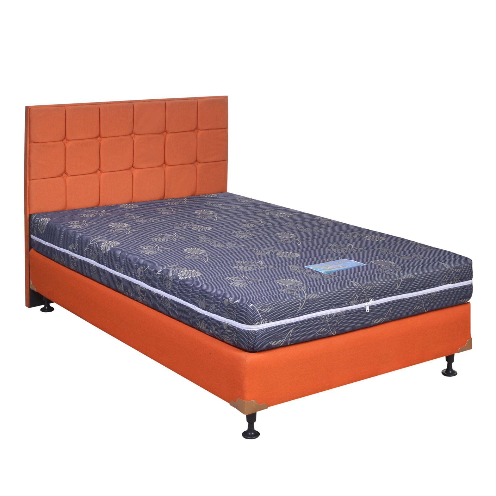 Saveland Kasur Busa Ultra Super Rebounded Biru (25 Cm) Size 100 x 200 HB Sydney Sweet Orange - Fullset - Khusus Jabodetabek