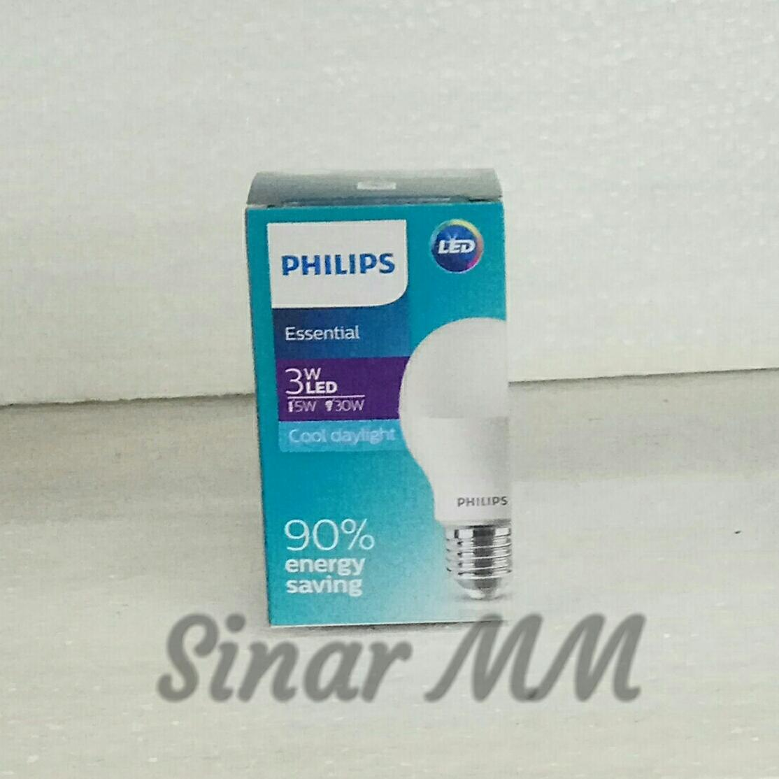 Lampu Philips Led Essential 3 watt PUTIH isi 5 pcs - 2 ...