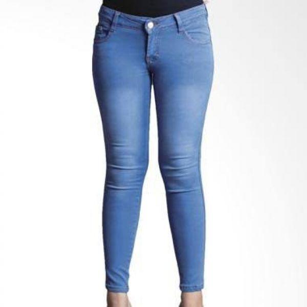 Celana Jeans Wanita Skinny Size Jumbo 33-38 - Skiny Bigsize - Soft Big Size
