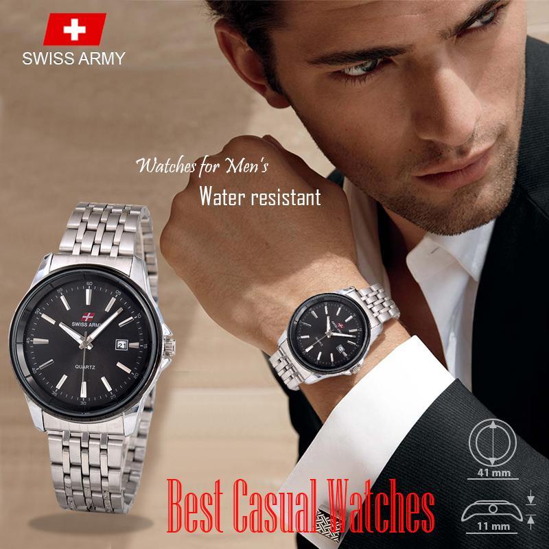 Swiss Army - Casual Watches - Jam Tangan Pria - TGL - Stainless Steel - 4U