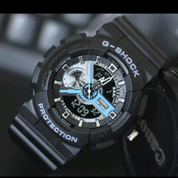 Casio Jam Tangan Sport Fashion Pria dual time G Shock Water Resist