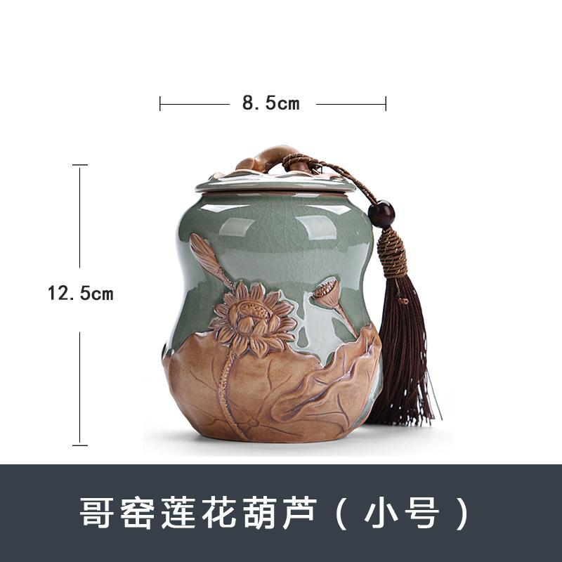 Chen Xiang Celadon Kaleng Daun Teh Keramik 'er Botol Kedap Udara