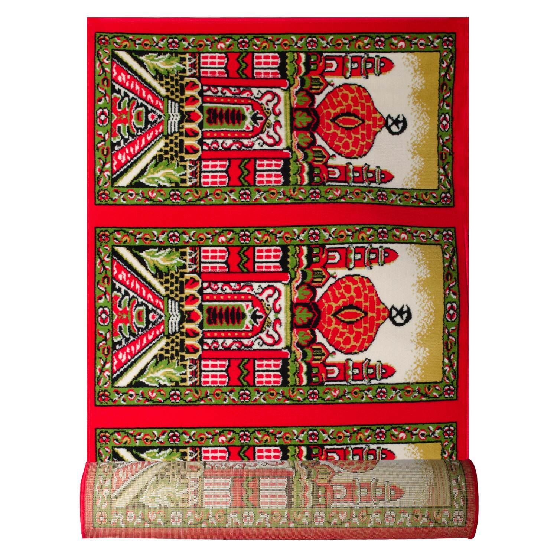 Karpet Masjid Shafira Ukuran 105 x 570 Merah 10018