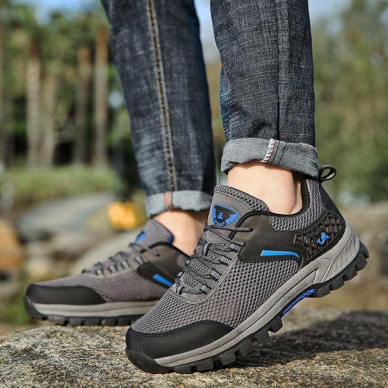 Sepatu Pria Outdoor Naik Gunung Tahan Cuaca Anti-Selip AIWOQI S953 - 4